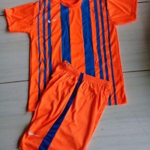Setelan Futsal Nike Garis Vertikal Orange