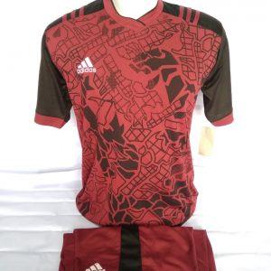 Grosir Baju Futsal Adidas Abstrak Maroon