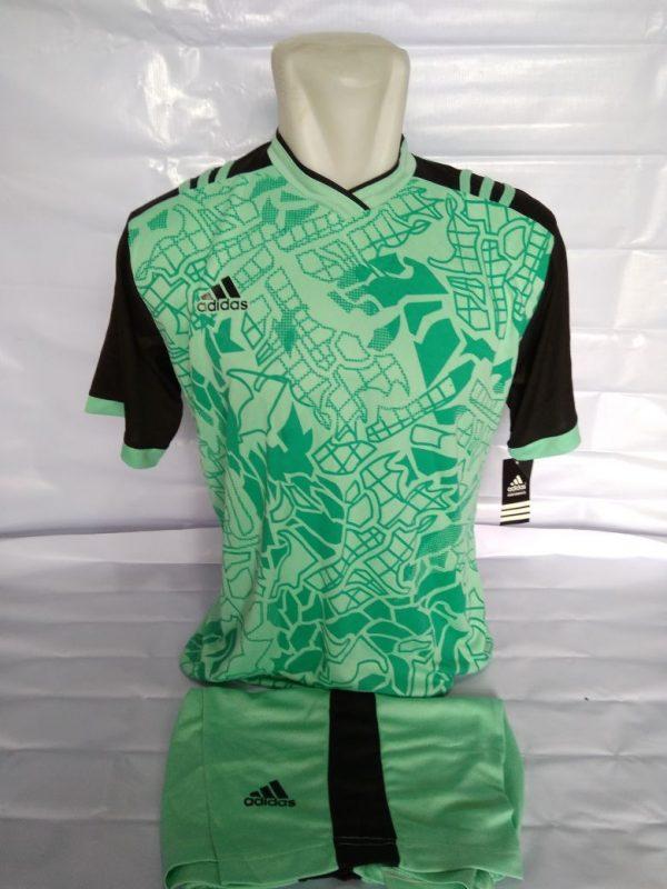 Grosir Kaos Futsal Adidas Abstrak Hijau Tosca