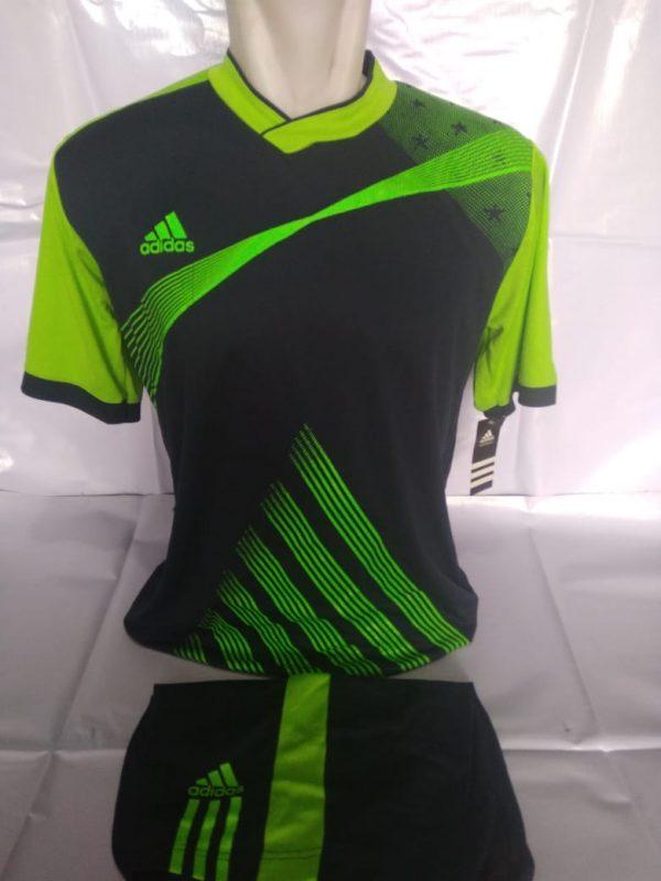 Setelan futsal Adidas Strip Miring Dongker
