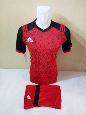 Setelan Futsal Adidas laba laba Merah