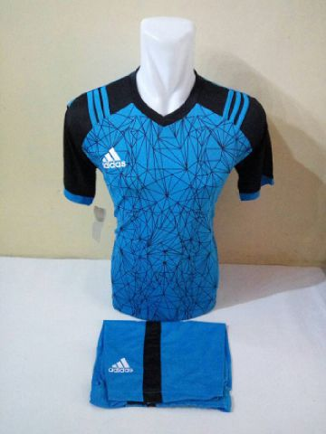 Setelan Futsal Adidas laba laba biru