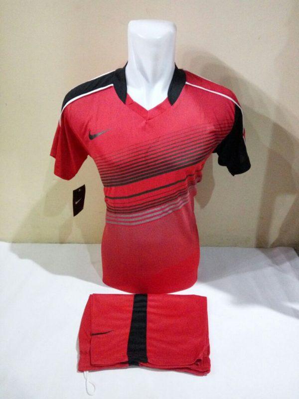 Setelan Futsal nike Kerah sanghai Merah